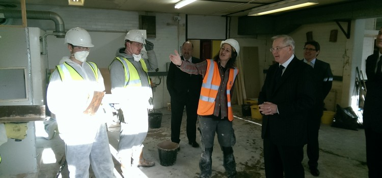 Royal visit to Construction Youth Trust training centre