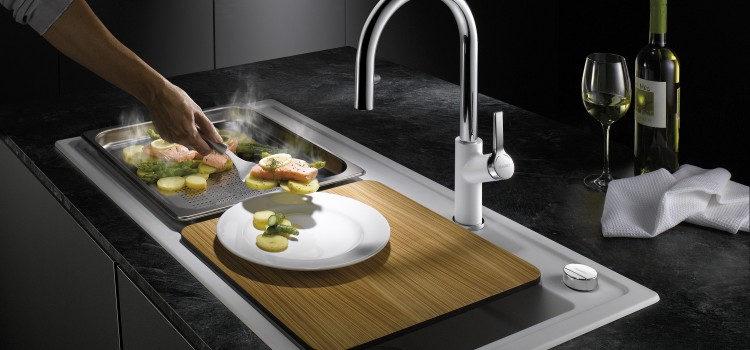 Super sink for steaming simplicity from BLANCO