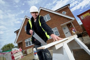 Redrow Homes South Midlands Apprentice of the year Dean Elderton at the Barley Fields development in Earls Barton Northants. September 23 2015. Matthew Power Photography www.matthewpowerphotography.co.uk 07969 088655 mpowerphoto@yahoo.co.uk @mpowerphoto
