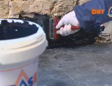 Handy Drybase damp and vapour barrier in a bucket from Safeguard