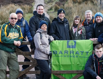 Barratt staff raise £12,000 conquering the Three Peaks Challenge