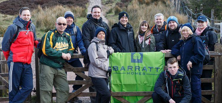Barratt staff raise £12,000 conquering the Three Peaks Challenge
