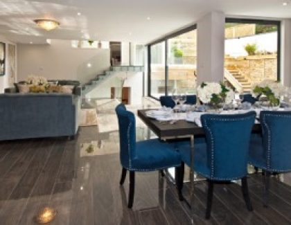 Basement conversion creates stunning home