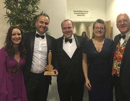 IG Elements win Manufacturer of the Year award at Burton Mail Business Awards