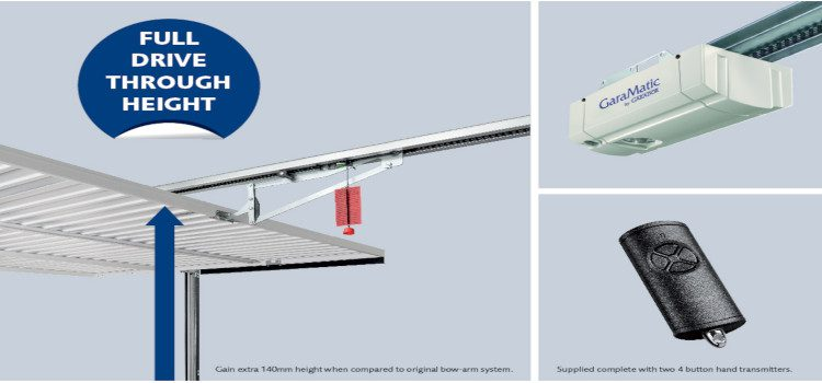 You can now fit an electric operator to a canopy up and over garage door – Garador