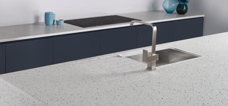 Minerva Ice Blue Worktop added to Häfele product range
