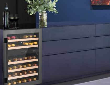 Caple introduces new gunmetal finish to Wi6133 wine cabinet