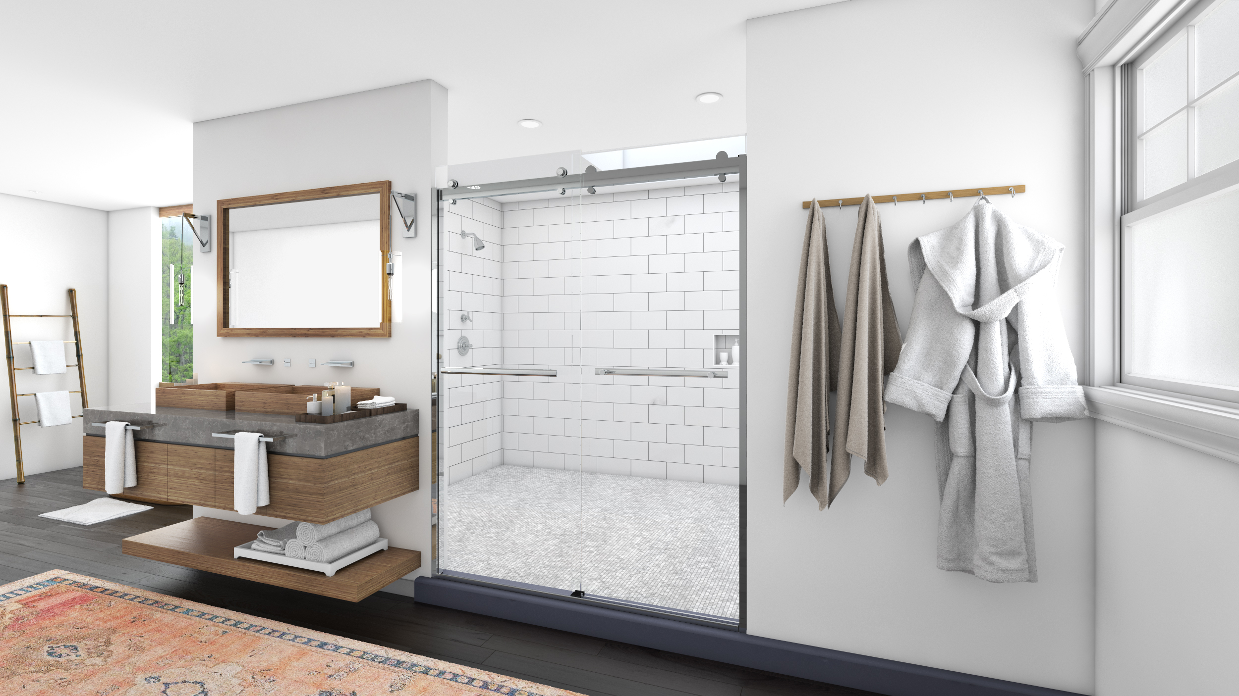 The first shower glass protectant powered by Microban